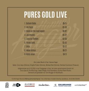 Hannes Hager - Album - Pures Gold Live